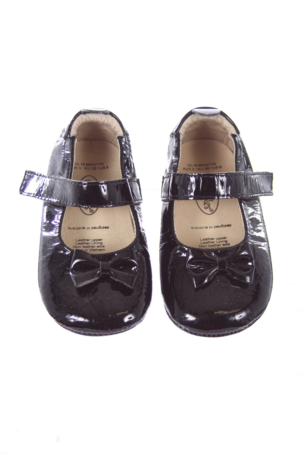 soles black patent leather soft shoes toddler size 6