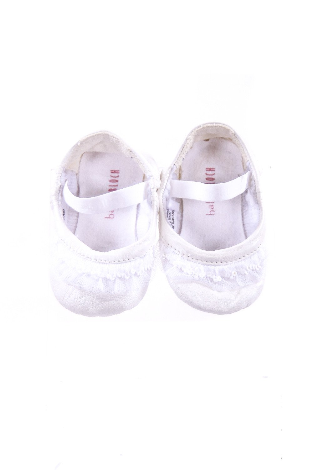 BABY BLOCH WHITE SOFT SHOES INFANT SIZE 3 *VGUC (LIGHT WEAR)