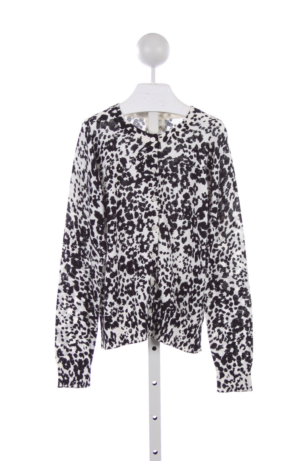 FACTORY BLACK AND WHITE LEOPARD PRINT SWEATER