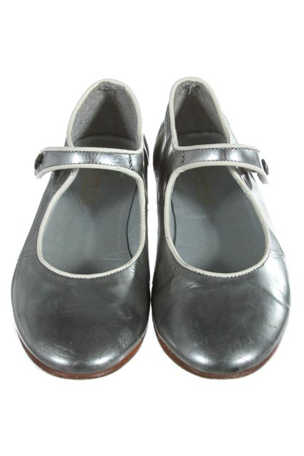 BONPOINT SILVER SHOES *SIZE TODDLER 11.5- VGU- NORMAL WEAR
