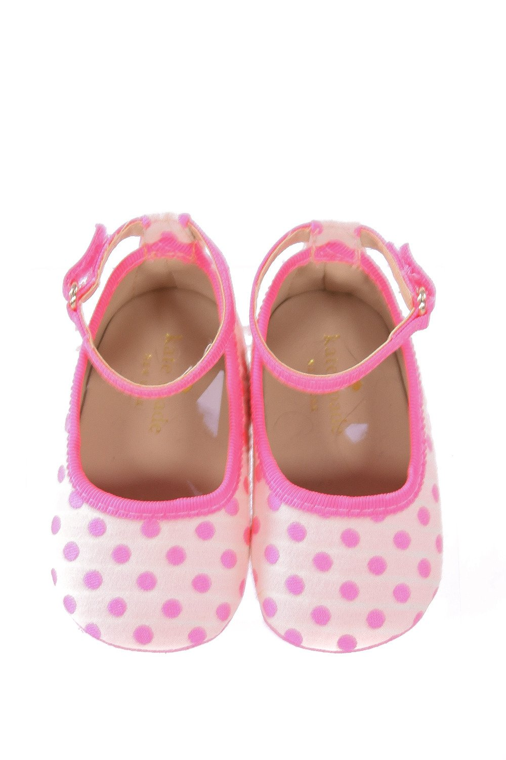 KATE SPADE PINK POLKA DOT SHOES *SIZE INFANT 3, EUC