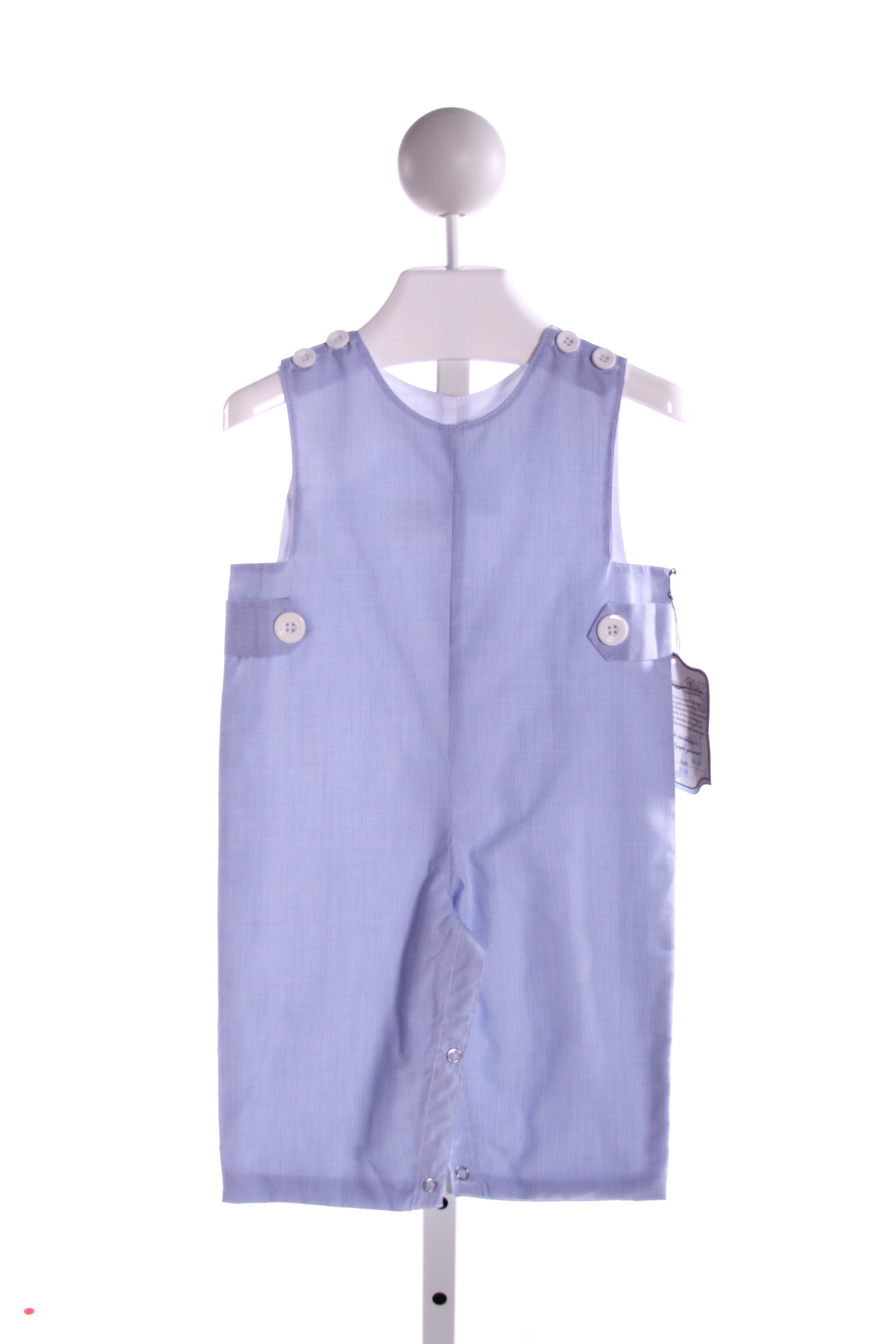 REMEMBER NGUYEN  LT BLUE  MICROCHECK  LONGALL/ROMPER