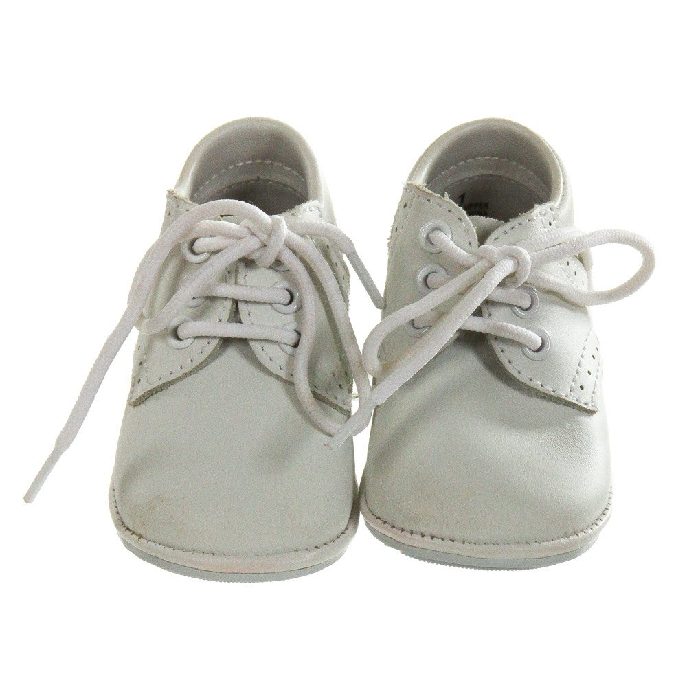 ANGEL BABY WHITE LEATHER SHOES *SIZE TODDLER 1,  VGU -  DISCOLORATION AND LIGHT WEAR