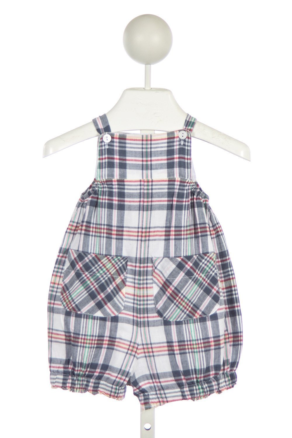 BELLA BLISS NAVY PLAID BUBBLE WITH POCKETS