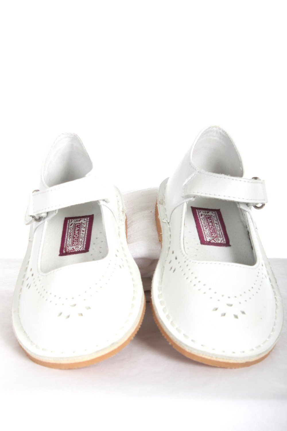 l amour white leather janes size 9 toddler 9 shoes