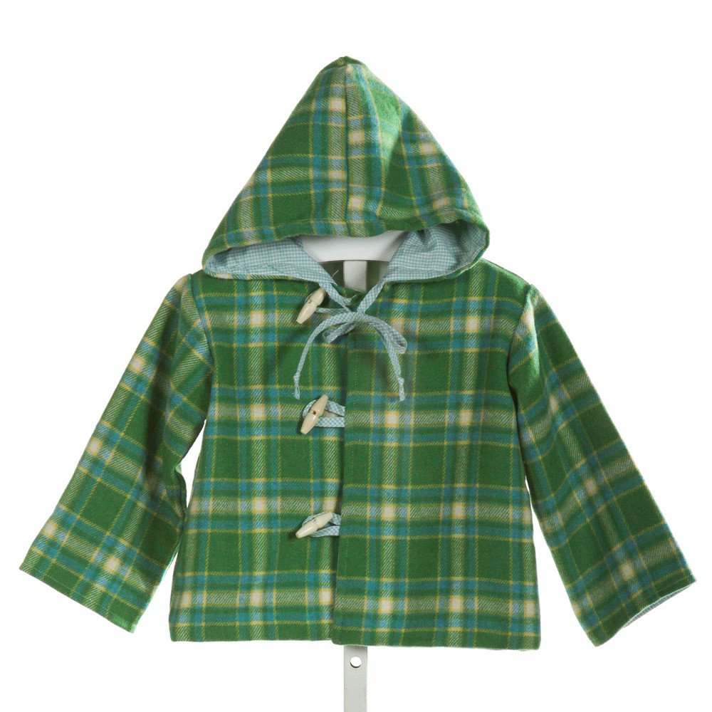 ALICE KATHLEEN  GREEN  PLAID  OUTERWEAR