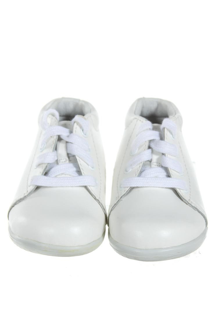 STRIDE RITE WHITE LEATHER SHOES *SIZE TODDLER 4.5, VGU - MINOR WEAR