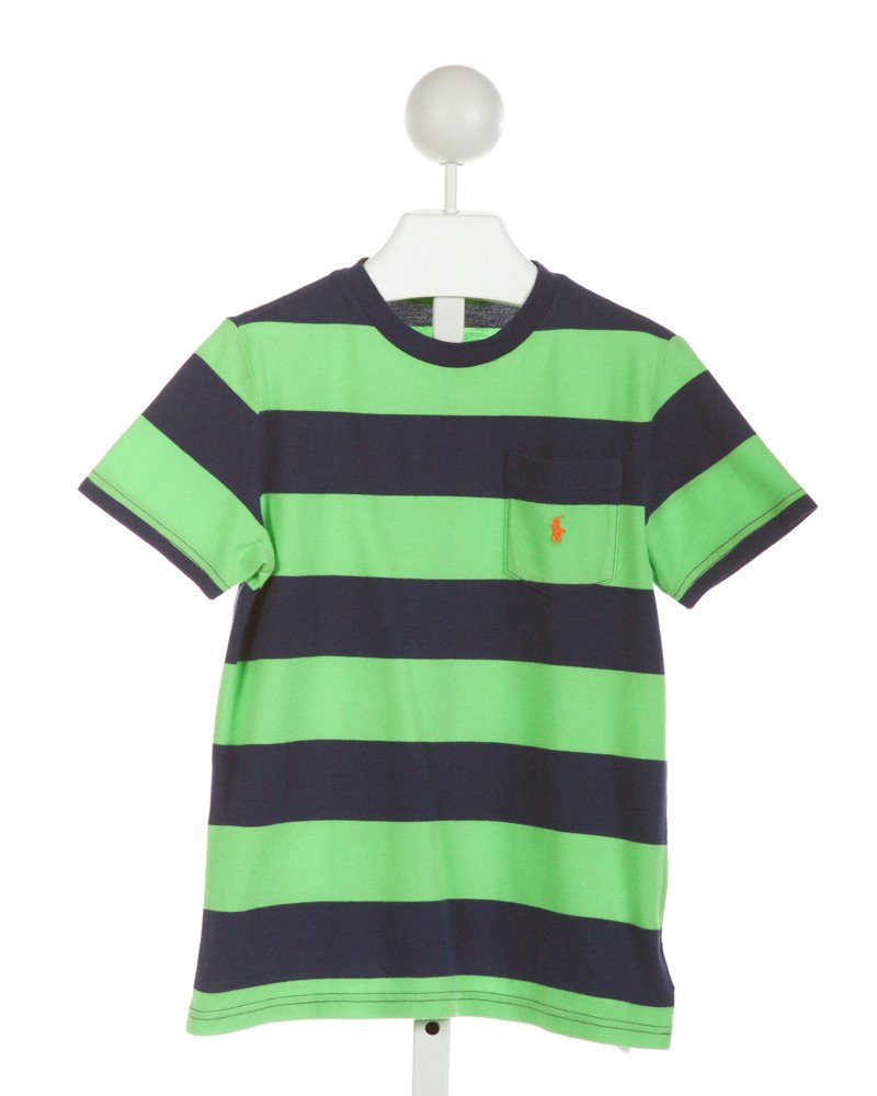POLO BY RALPH LAUREN  ROYAL BLUE  STRIPED  T-SHIRT