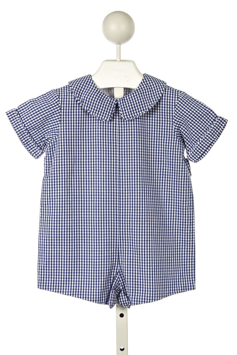 KATE & LIBBY BLUE GINGHAM SHORTALL