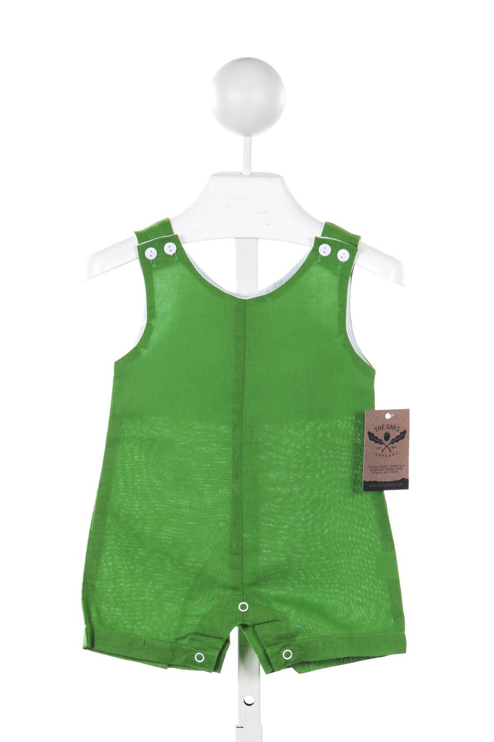 THE OAKS APPAREL GREEN LINEN ROMPER
