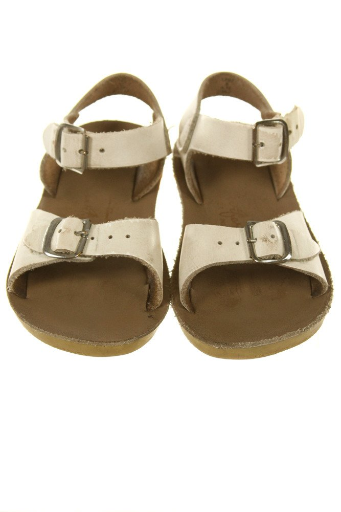WHITE SUN SANS/ SALTWATER SANDALS *SIZE TODDLER 8, GUC - DISCOLORATION AND WEAR
