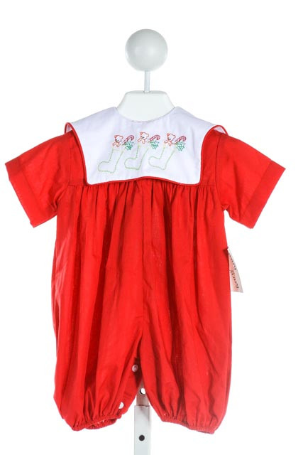 MARY MARY  RED   EMBROIDERED ROMPER