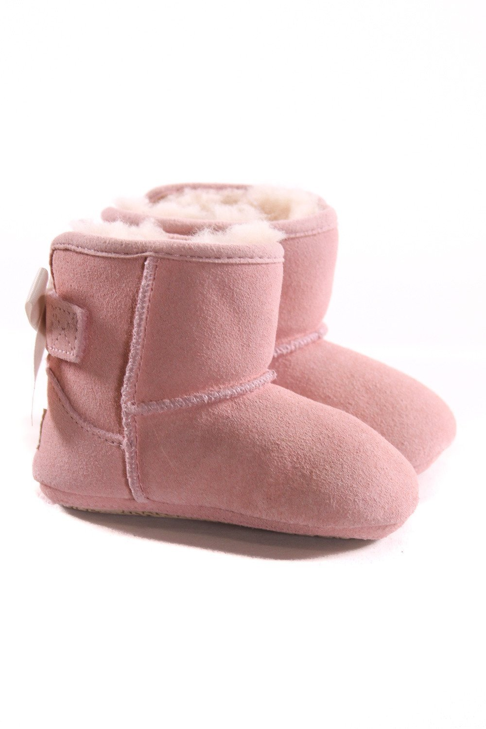 58dc60146c0 UGG PINK BOOTIES WITH BOWS *SIZE 2-3, EUC