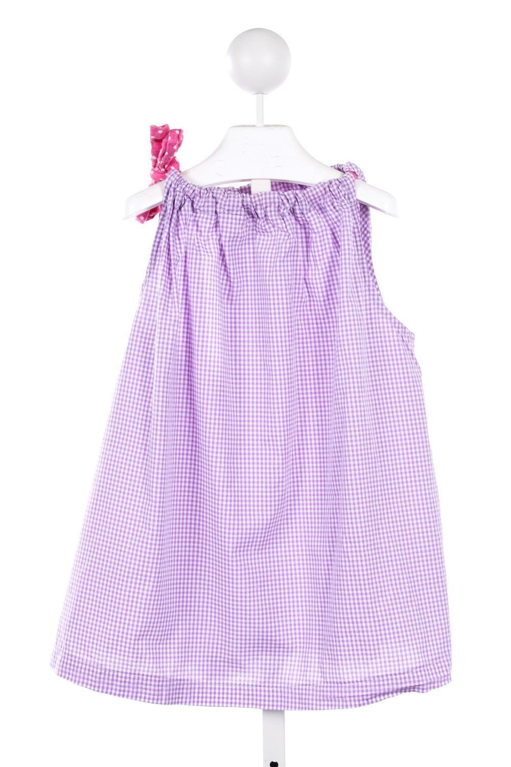 ALICE KATHLEEN PURPLE GINGHAM TOP WITH TIE