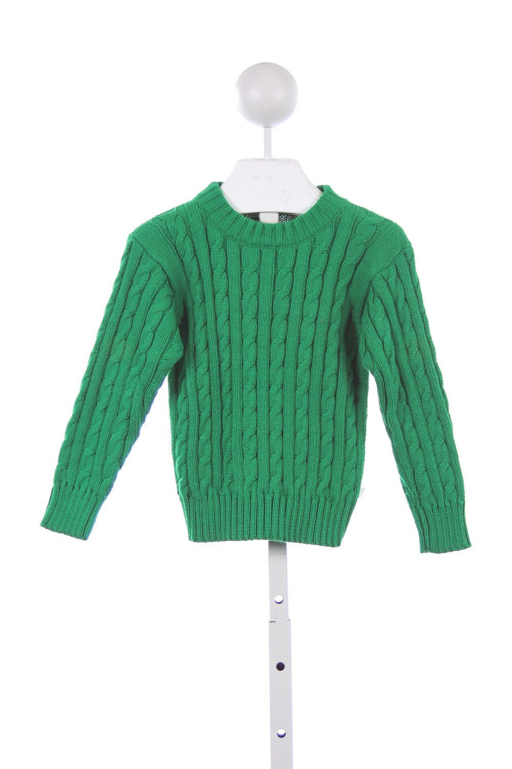 BLISS KELLY GREEN CABLE KNIT SWEATER