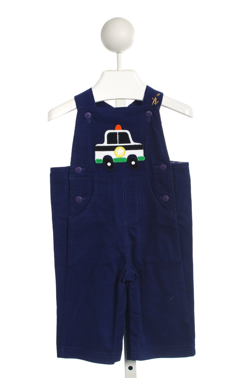 FLORENCE EISEMAN NAVY OVERALL WITH POLICE CAR APPLIQUE