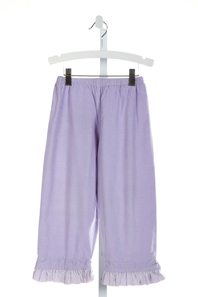 ALICE KATHLEEN  PURPLE CORDUROY   PANTS WITH RUFFLE