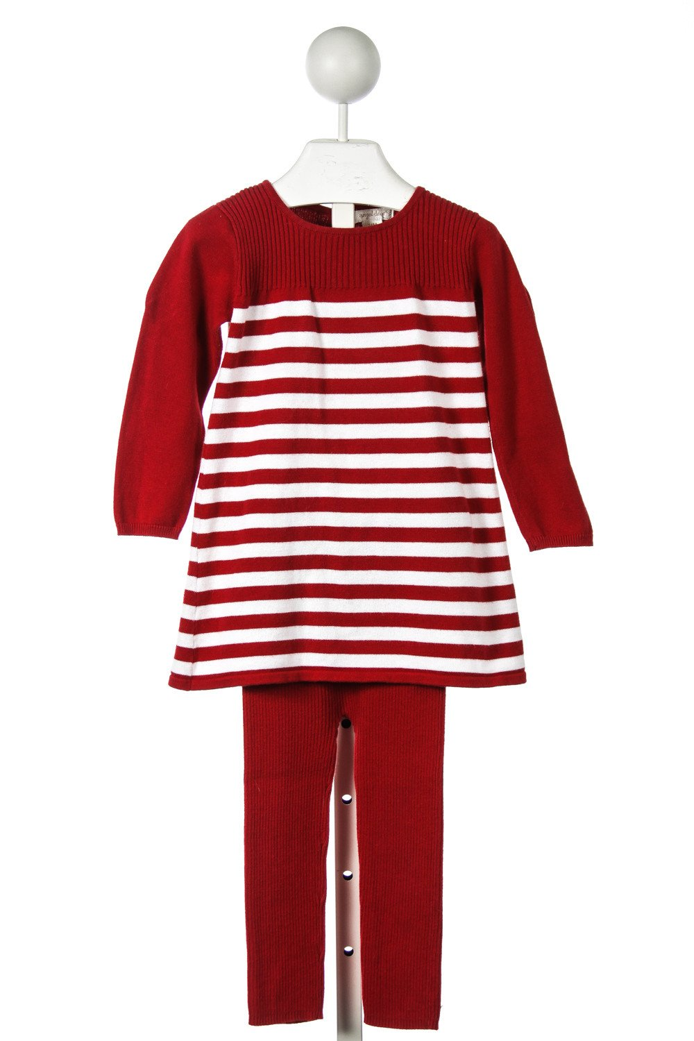 0399d266bc65 ANGEL DEAR RED AND WHITE STRIPED SWEATER SET