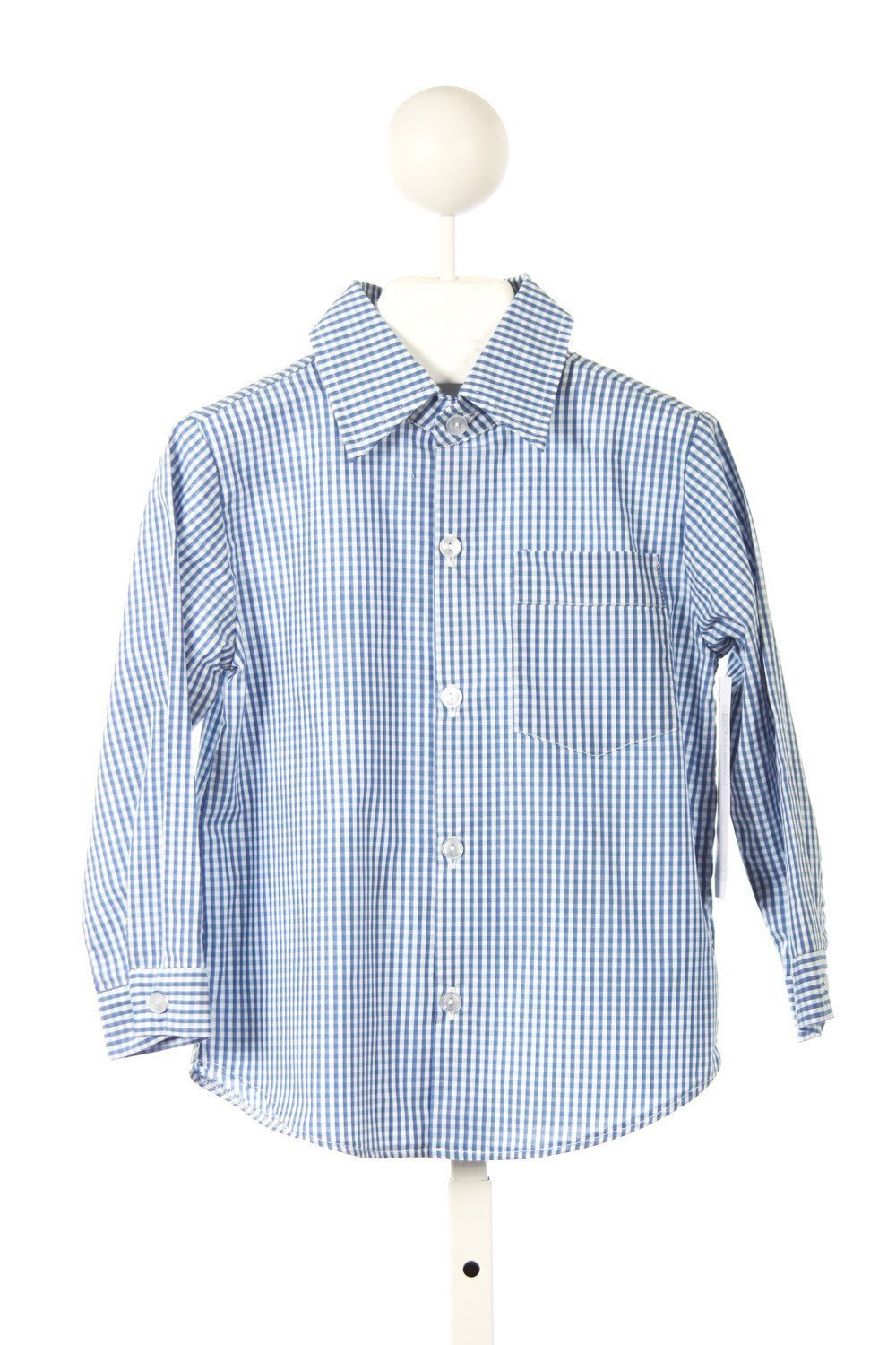 RED BEANS FRANK LONG SLEEVE SHIRT IN ROYAL/GREEN PLAID