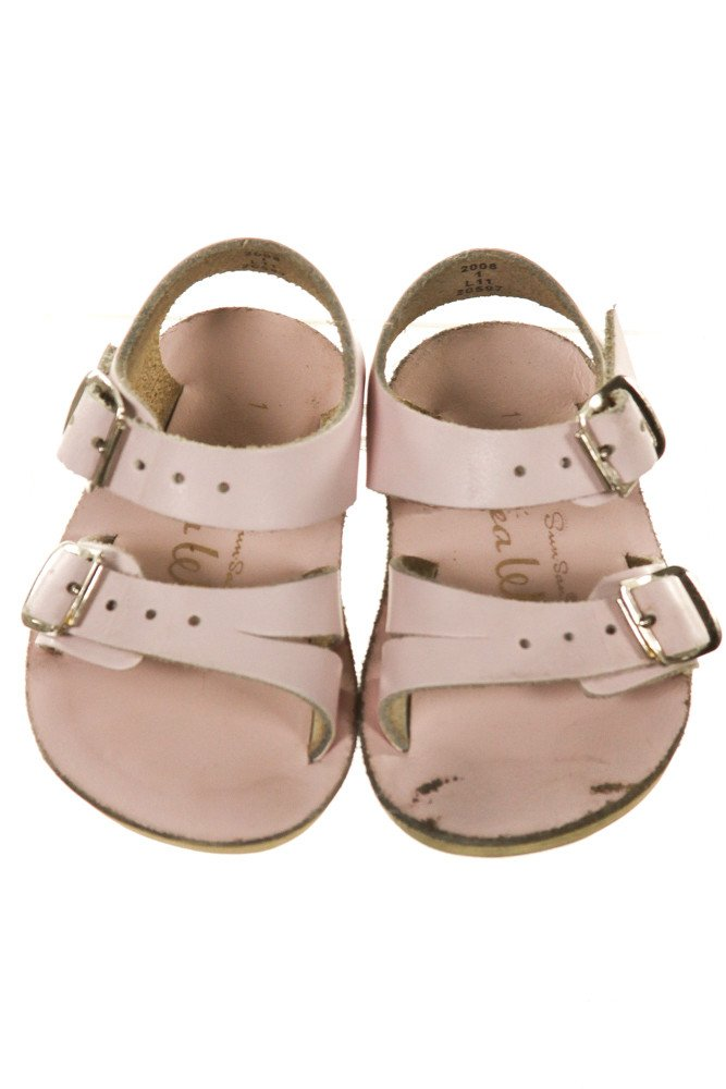 PINK SUN SANS/ SALTWATER SANDALS *SIZE INFANT 1, GUC - WEAR