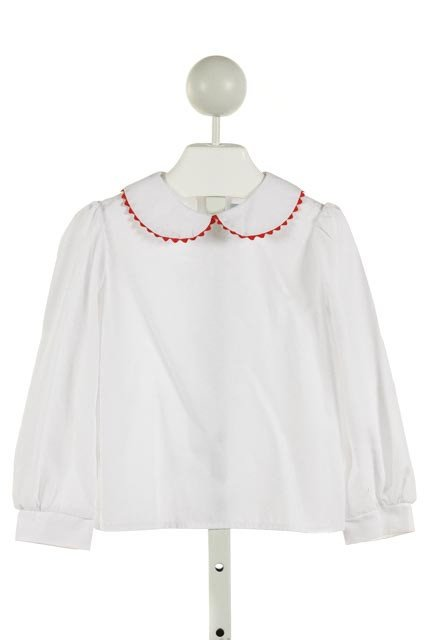 FUNTASIA TOO  WHITE    CLOTH LS SHIRT WITH RIC RAC