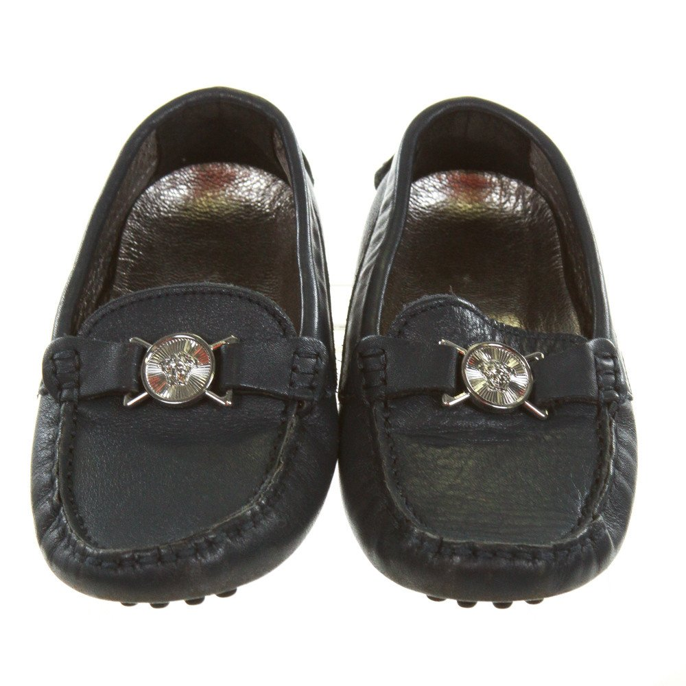 VERSACE BLUE LOAFERS *SIZE 26 = TODDLER 8.5, VGU - SCUFFING AND LIGHT WEAR