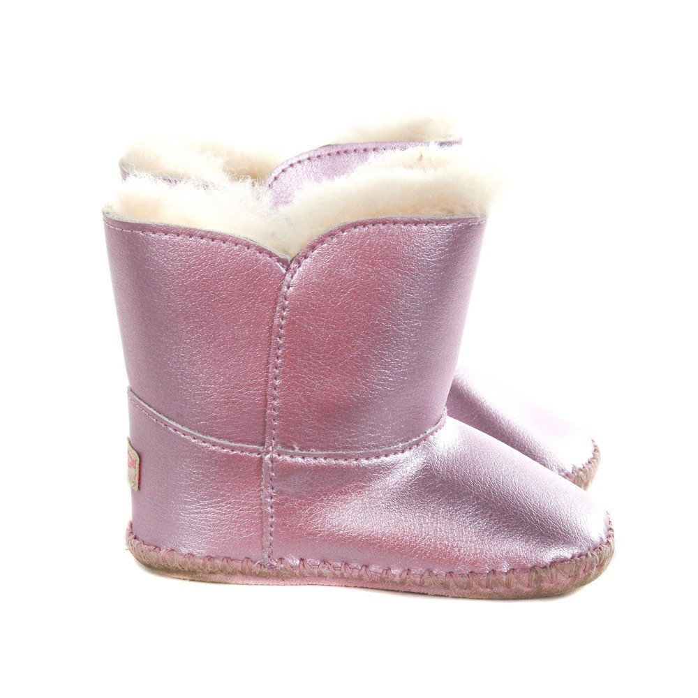 UGG METALLIC PURPLE BOOTS *SIZE TODDLER 4/5, VGU - DISCOLORATION
