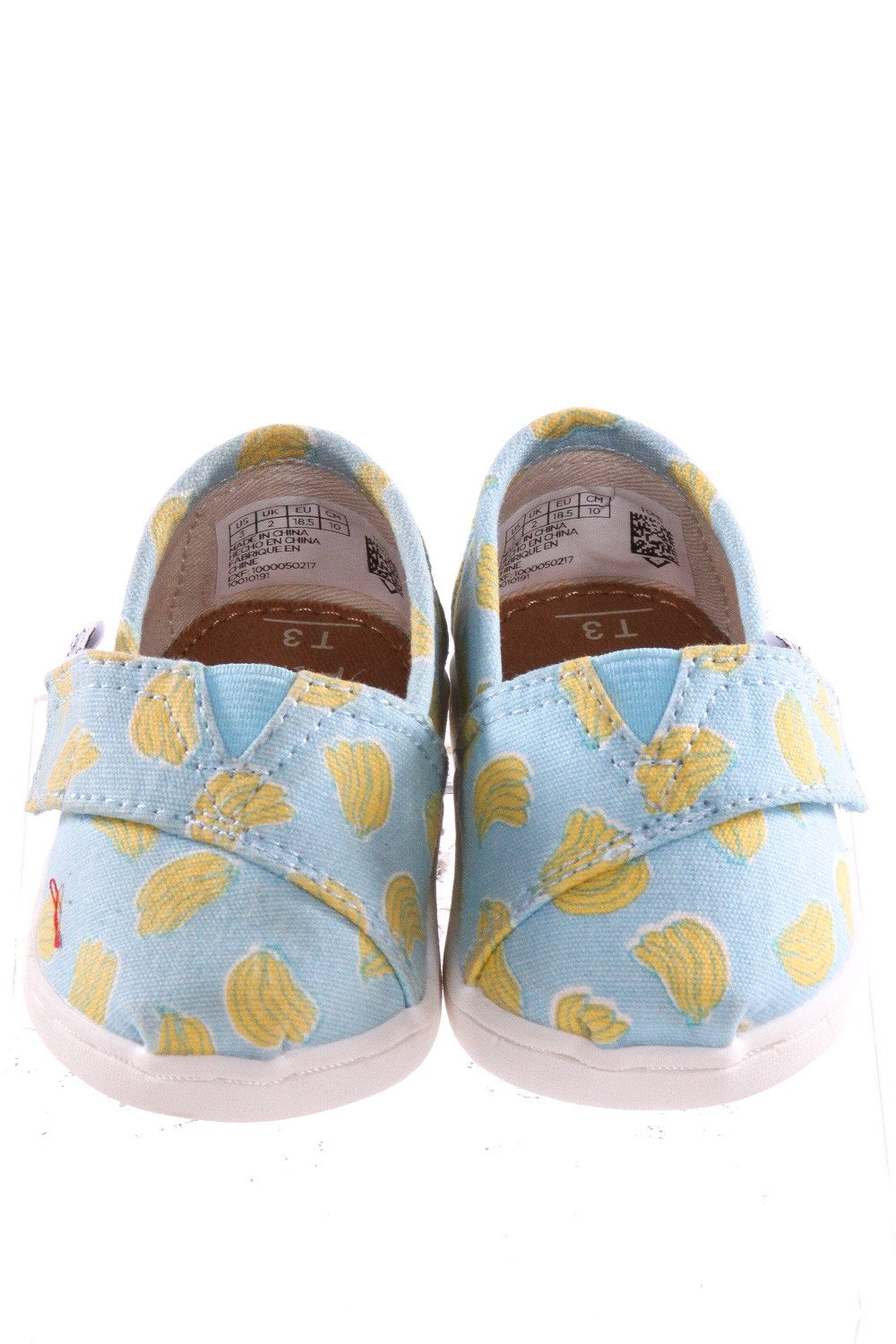 BLUE TOMS WITH BANANAS *SIZE 3, VGU - SLIGHT DISCOLORED AREA