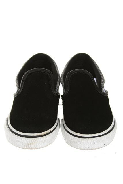 VANS BLACK SLIP ON SHOES *SIZE TODDLER 5.5, EUC