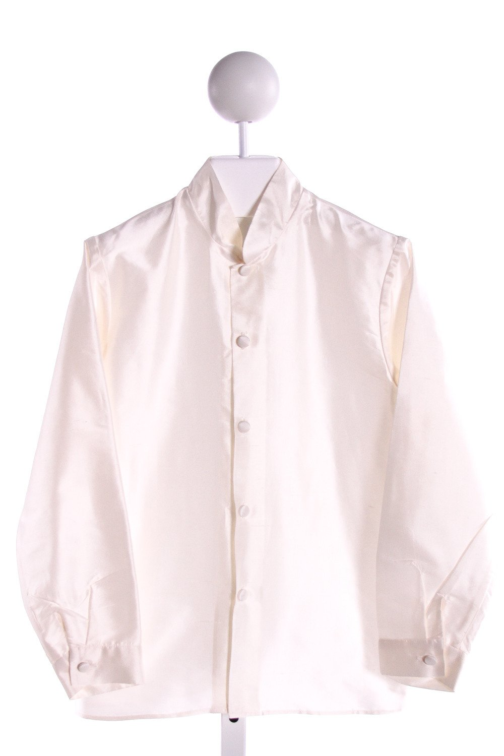 LITTLE BEVAN  IVORY SILK   CLOTH LS SHIRT