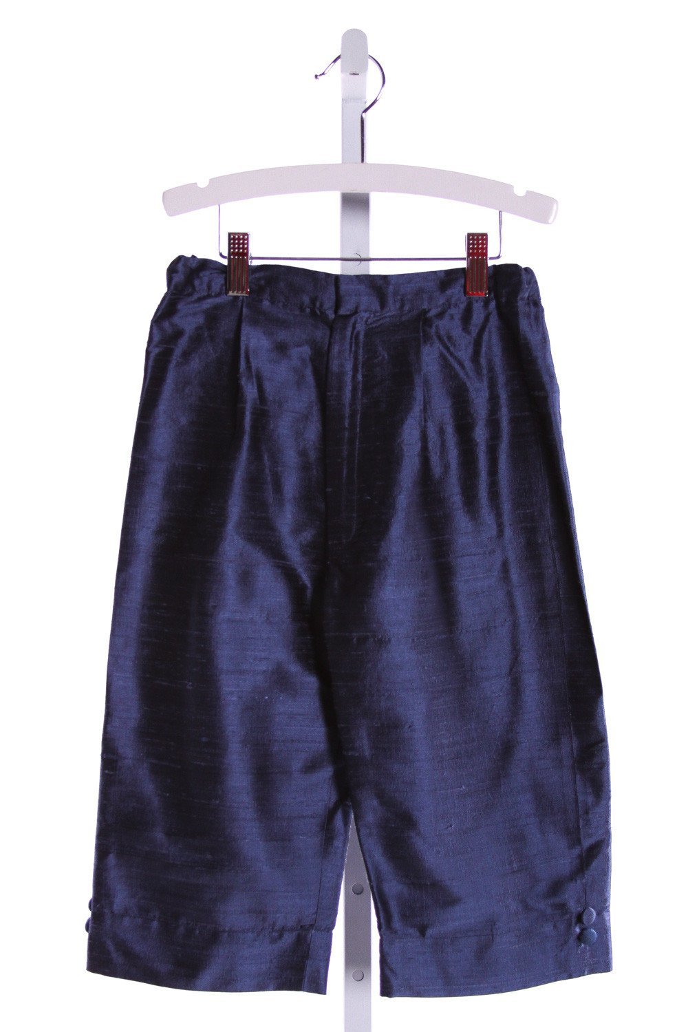 LITTLE BEVAN  BLUE SILK   SHORTS