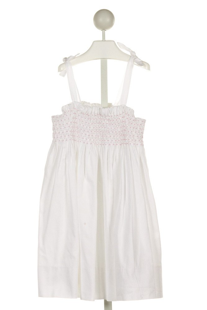 ALICE KATHLEEN  WHITE   SMOCKED DRESS WITH RUFFLE