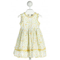 BABY CZ  YELLOW  FLORAL  DRESS WITH RUFFLE