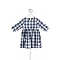 SMILING BUTTON  NAVY  GINGHAM  DRESS