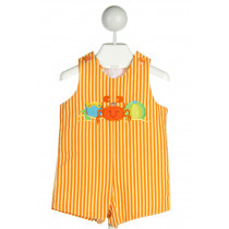 AUSTIN & ASHLEY  ORANGE PIQUE STRIPED  JOHN JOHN/ SHORTALL
