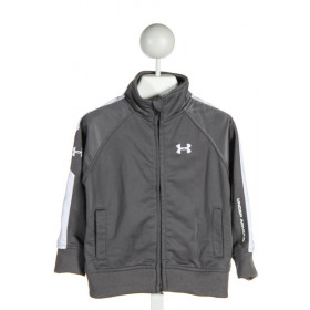 UNDER ARMOUR  GRAY    KNIT LS SHIRT