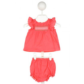 JANIE AND JACK  HOT PINK   SMOCKED 2-PIECE OUTFIT WITH RUFFLE