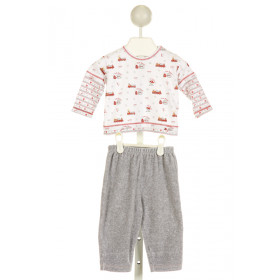 KISSY KISSY  WHITE   PRINTED DESIGN 2-PIECE OUTFIT