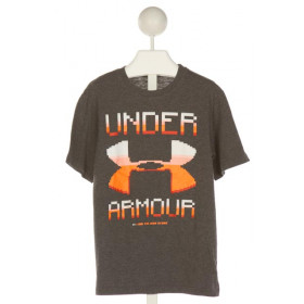 UNDER ARMOUR  GRAY   PRINTED DESIGN T-SHIRT