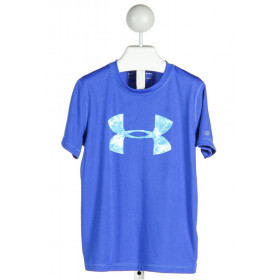 UNDER ARMOUR  ROYAL BLUE    KNIT SS SHIRT