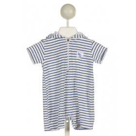 KISSY KISSY  BLUE TERRY CLOTH STRIPED  COVER UP