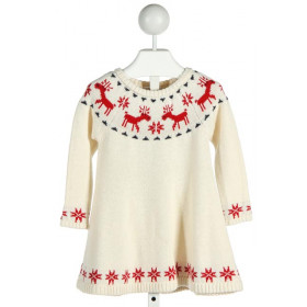 HANNA ANDERSSON  IVORY   PRINTED DESIGN KNIT DRESS