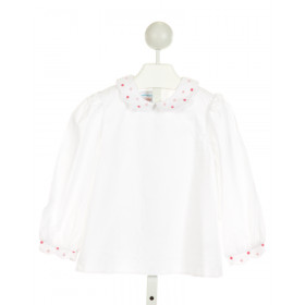 RED BEANS  OFF-WHITE   EMBROIDERED CLOTH LS SHIRT