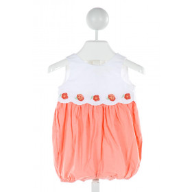 JANIE AND JACK  ORANGE   EMBROIDERED BUBBLE
