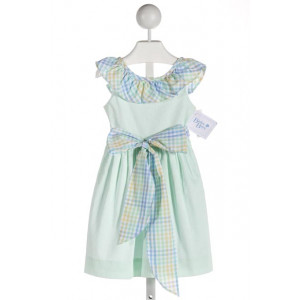 BAILEY BOYS  MINT  GINGHAM  DRESS WITH RUFFLE