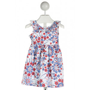 CPC  WHITE  FLORAL  DRESS WITH RUFFLE