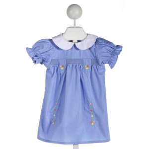 THE BEAUFORT BONNET COMPANY  BLUE    DRESS WITH RUFFLE