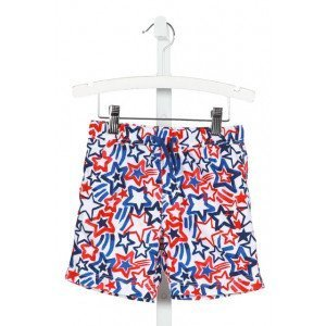 TUCKER & TATE  WHITE   PRINTED DESIGN SWIM TRUNKS