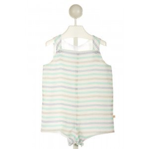 CHARMING MARY  BLUE LINEN STRIPED  JOHN JOHN/ SHORTALL