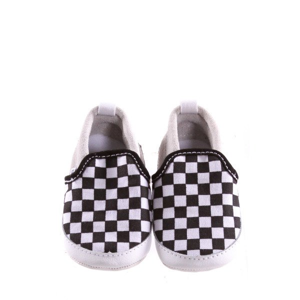 BLACK AND WHITE CHECKERED VANS *NO SIZE TAG, APPROX 6-12 MONTHS = APPROX 3, EUC